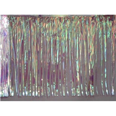 iridescent fringe curtain iridescent metallic fringe curtain 1ct party value