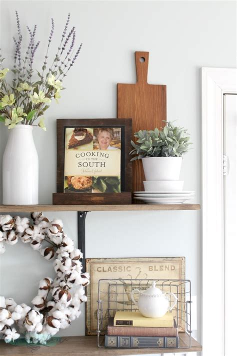 how to decorate shelves decorating shelves in a farmhouse kitchen