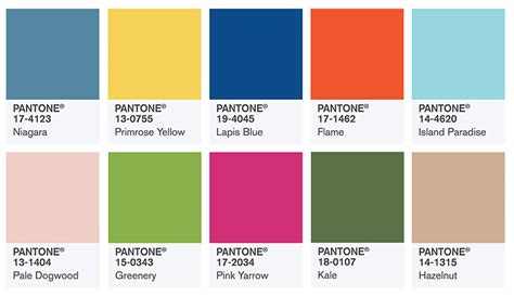 fashion colors for spring 2017 pantone 팬톤코리아