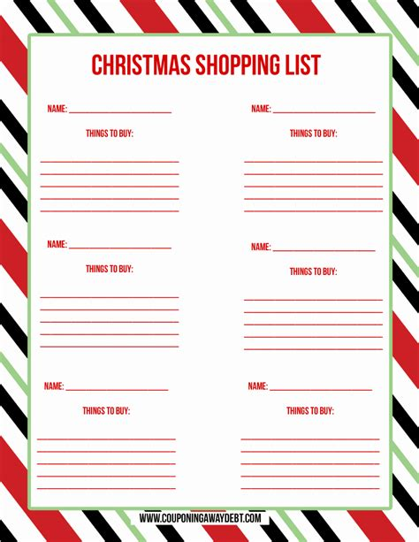 free printable holiday to do list printable christmas shopping list