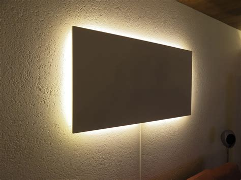 beleuchtung tv magnetwand mit indirekter led beleuchtung do it yourself