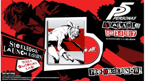 Best Seller Persona 5 Steelbook Launch Edition Ready Stock