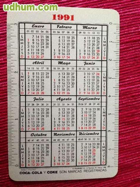 Calendario De 1990 Calendario Coca Cola 1991