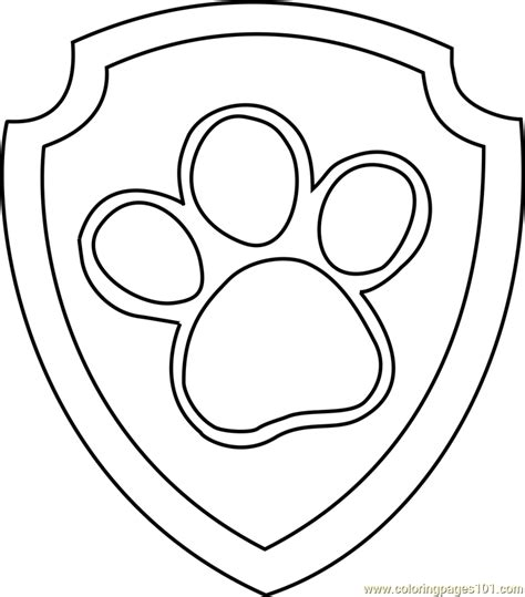 paw patrol logo coloring pages ryder badge coloring page free paw patrol coloring pages