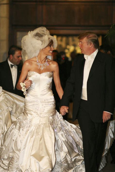 donald trump wedding picture melania trump through the years abc news