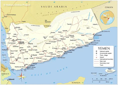 political map  yemen nations  project