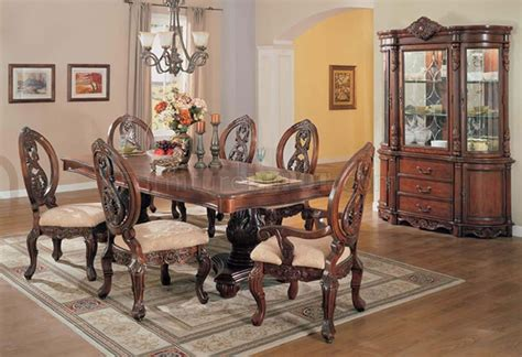 cherry dining room table 09955 versailles dining room in dark cherry by acme