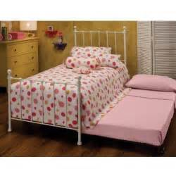 White Metal Trundle Bed Frame Hillsdale Molly White Metal Bed Set With Frame And Trundle 1222btwhtr Shopperschoice