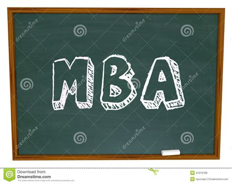 Masters In Pr Or Mba by Mba Masters Business Administration College Degree Chalk