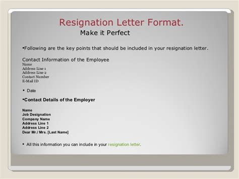 What Font Should My Resignation Letter Be In Resignation Letter