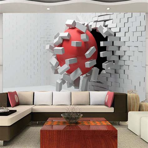 modern mural large custom mural wallpaper modern abstract 3d