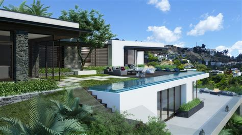 Luxury House Plans With Pools blue jay house los angeles 3d realview com3d realview com