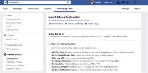 fb instant articles facebook instant articles and pagefrog imwz web