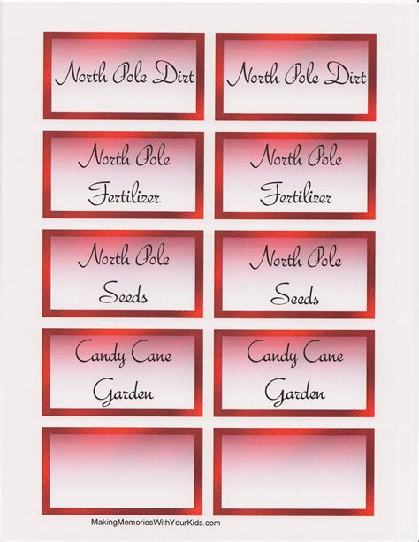 elf on the shelf magic seeds free printable a candy cane garden from zachary our elf on the shelf