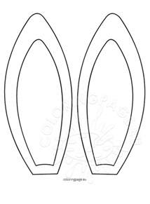 Bunny Ear Template easter archives coloring page