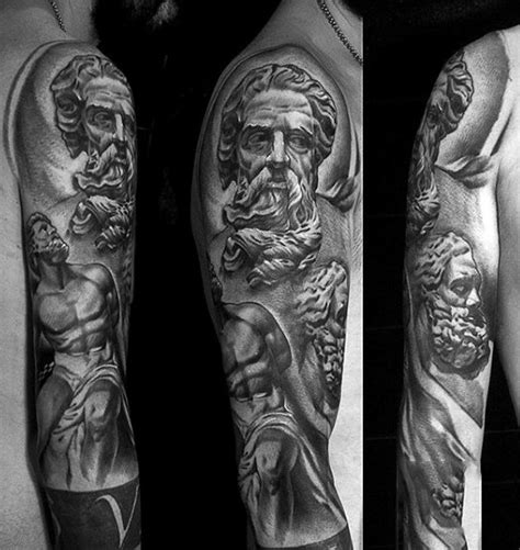 greek god sleeve tattoos 80 zeus designs for a thunderbolt of ideas