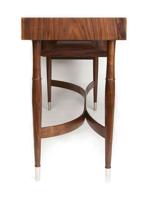 modern walnut writing desk