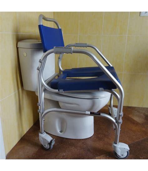 ducha wc silla ducha con wc pacific skin asiento blando y ruedas