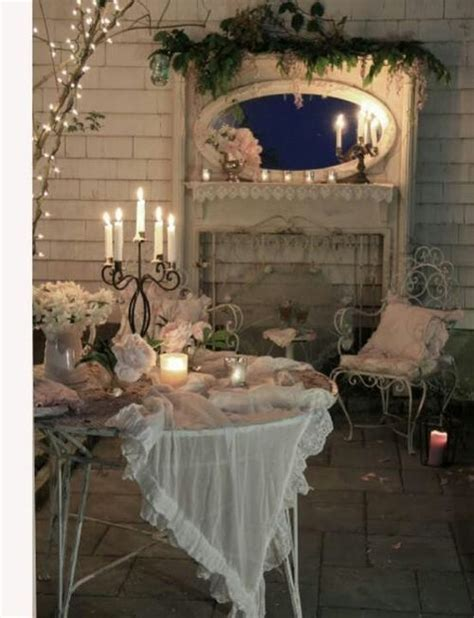 shabby chic backyard decor outdoor spaces pinterest