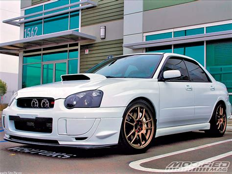 subaru impreza wrx modified chris thys 2005 subaru wrx sti modified magazine