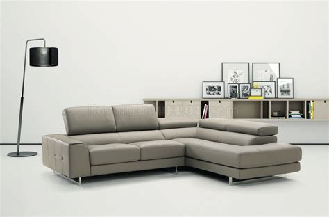 light grey sectional sofa johnny r015 genuine leather sectional sofa in light grey