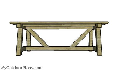 building a farmhouse table farmhouse dining table plans myoutdoorplans free