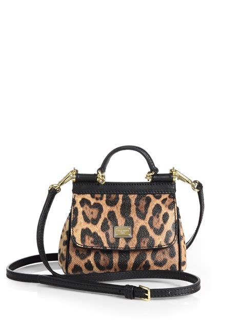 Dolce And Gabbana Leopard Print Mini Handbag by Dolce Gabbana Mini Sicily Leopardprint Leather Shoulder