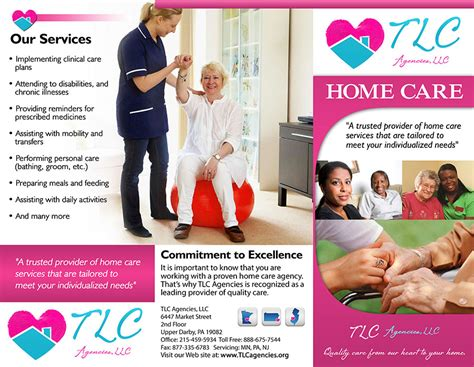 6 best images of home health care brochure home health