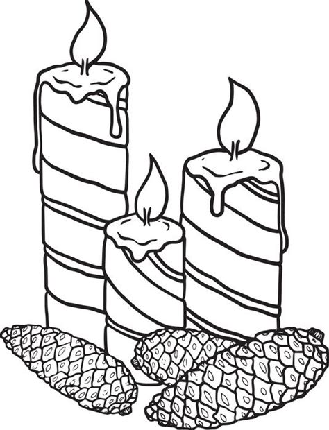 coloring pages of christmas candles free printable christmas candles coloring page for kids