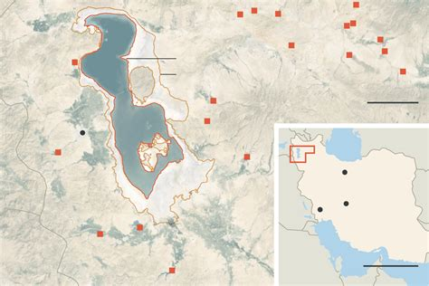middle east map lake urmia its great lake shriveled iran confronts crisis of water