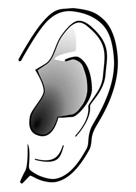 Dibujo para colorear oreja - silencio - Dibujos Para