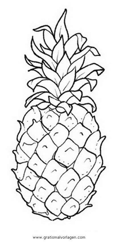 Coloriage 224 Imprimer Nature Fruits Ananas Num 233 Ro 25903