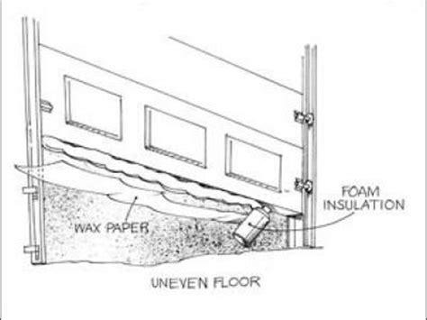 Garage Door Bottom Seal For Uneven Floor by When A Shop Floor Is Uneven The Seal On An Overhead Door