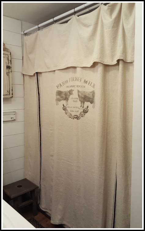 Grain Sack Curtains Grain Sack Window Or Shower Curtainfarm Fresh Pattern