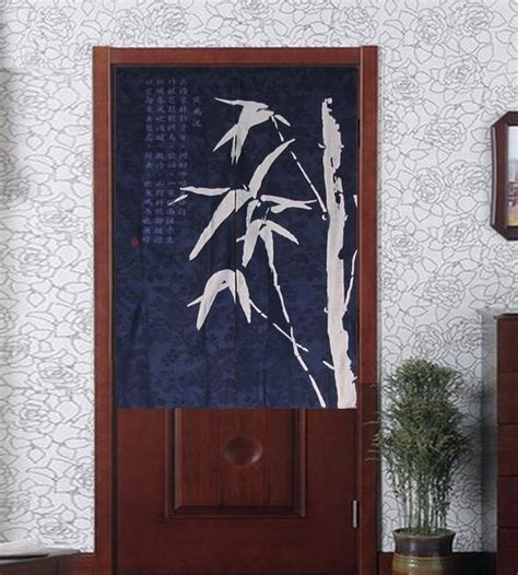fabric doorway curtains noren bamboo batik half door curtain contemporary