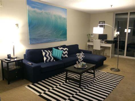 Striped Dining Room Chairs by My Apartment Beach Decor Surf Decor Ikea Kivik Sofa