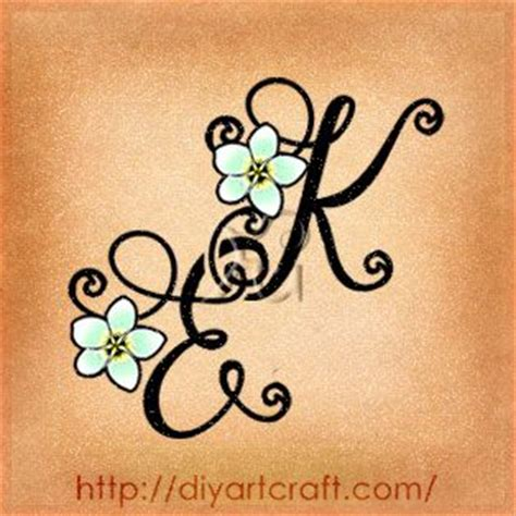 tattoo letters entwined monogram tattoo ek frangipani blossom i really love