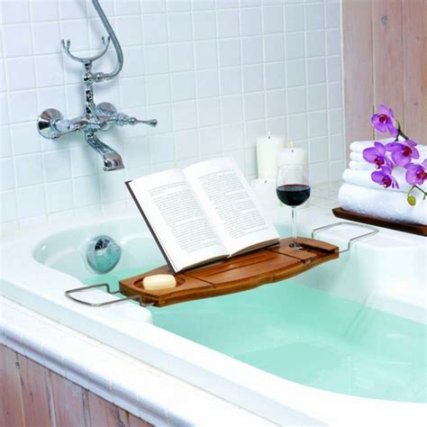 Reading In The Tub In The Bookcase by Five Top Bathroom Shelving Ideas