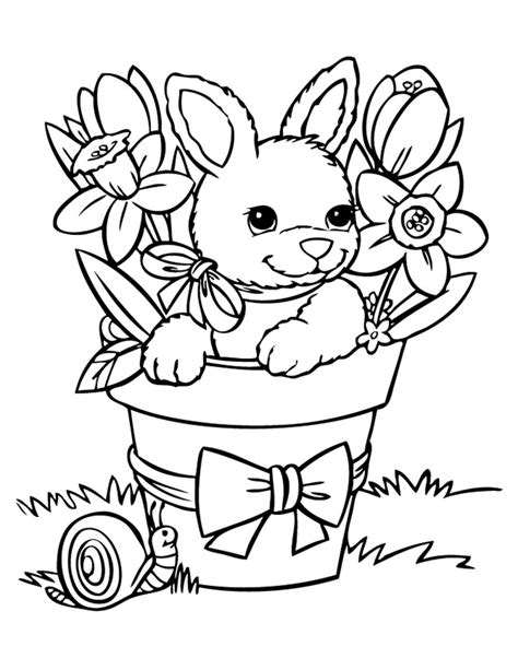 coloring pictures of baby bunnies rabbit template animal templates free premium templates