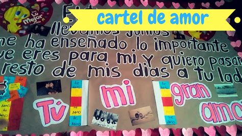 imagenes de un cartel para mi novio cartel de amor mural del amor gio yeah youtube