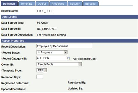 page in rtf template creating report definitions