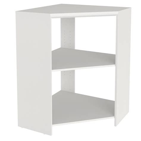 Closetmaid White Corner Shelf Unit Ez Shelf Walk In 30 Ft Closet Kit With 5 Expandable Shelf