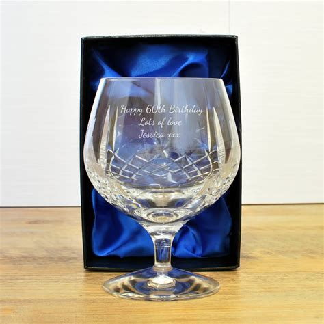 Mayfair 24% Lead Crystal Engraved Brandy Glass