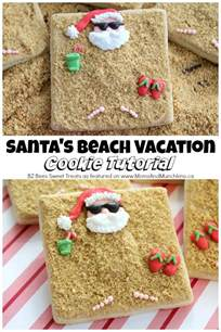 santa beach cookies tutorial moms munchkins