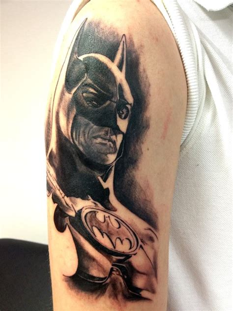 batman elbow tattoo batman tattoo by luckyfoxtattoo on deviantart