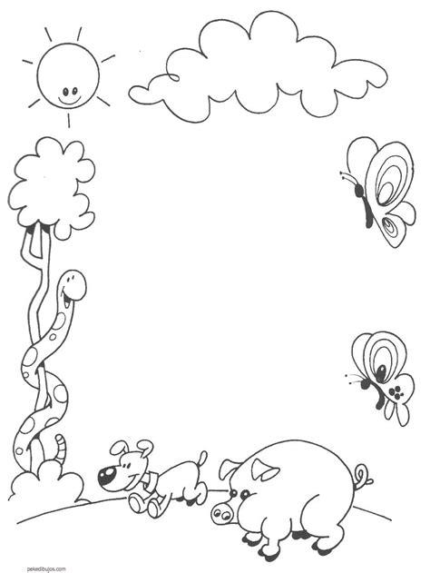 imagenes escolares infantiles para colorear dibujos de marcos para colorear