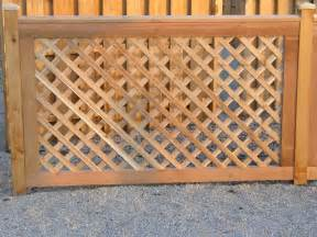 Wood Lattice Trellis Wood Fencing Cedar Fence Contractors In Chicagoland