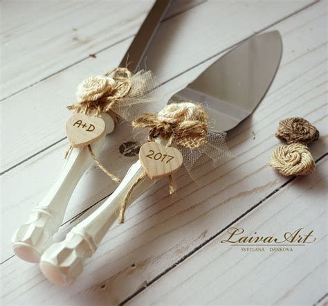 Wedding Cake Knife by Cake Server Set Knife Rustic Wedding Cake Cutting Set