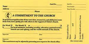 pledge card template for church a commitment to the church pledge card pkg of 100