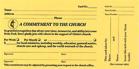 A Commitment To The Church Pledge Card (Pkg of 100